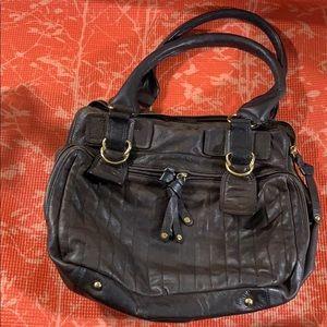 Sabina New York Genuine Leather Satchel purse